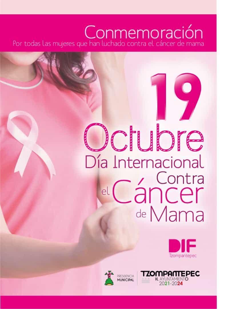 19 De octubre día internacional contra el cáncer de mama 2021